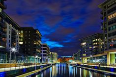 Clarence Dock, Leeds, At Night - Explored Leeds England, Leeds City, City Buildings, Beautiful Buildings, Yorkshire, Night Life, Skyscraper, July 15, Tours