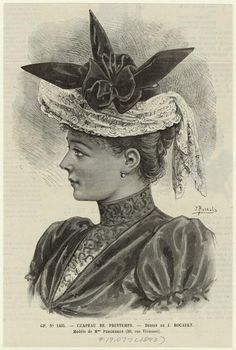 Not every hat is awesome | Chapeau de printemps. (1893) (spring hat)