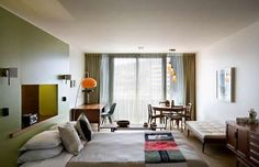 Wellington, New Zealand. Premier Boutique Hotel and Executive Accommodation Ohtel Century Hotel, Mid Century House, Overarching Floor Lamp, Mid Century Modern Chandelier, Home Interior, Interior Design, Mid Century Design, A Boutique, Boutique Hotels
