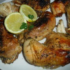 Muslos de Pollo con Limón y Especias