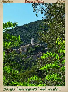 "LA SABINA nel Lazio-ITALIA_""Village drowned in the green!"""
