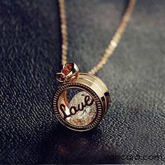 I found 'Vancaro Women's Fashion Necklaces Lovely Exquisite Cutout Love Letter Ring Pendant Cubic Zirconia Alloy Plated Gold Necklace' on Wish, check it out! Cute Jewelry, Jewelry Box, Jewelry Accessories, Fashion Accessories, Fashion Jewelry, Jewlery, Women's Fashion, Initial Jewelry, Jewelry Necklaces
