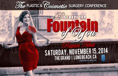 Discover a New YOU in the New Year!  Attend the Aesthetic, Plastic and Cosmetic Surgical (and Non-Surgical) Procedures Conference at The Grand in Long Beach, CA on Sat., Nov 15th. The program will showcase some of the top plastic, cosmetic and reconstructive surgery professionals in an educational forum. Register today at http://a3.acteva.com/orderbooking/bookEvent/A339767 A339767 #PerfectImageConsulting #Cosmetic #Plastic #surgical #non-surgical #conference #register #early bird