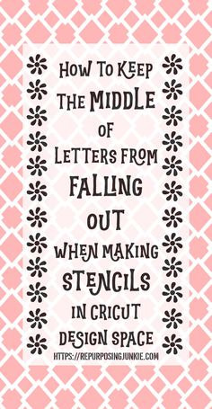 How to Keep Letters Intact When Making Stencils in Cricut Design Space - Repurposing Junkie - - Ever wondered how to keep the middle of letters intact on stencils? I'm sharing How to Keep Letters Intact When Making Stencils in Cricut Design Space. Making Stencils, Cricut Stencils, How To Make Stencils, Sign Stencils, Letter Stencils, Cricut Vinyl, Cricut Explore Projects, Cricut Help, Cricut Tutorials