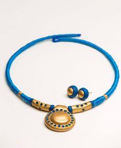 Threaded clay jewelry $15