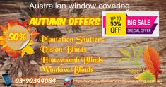 AWC works into quality Honeycomb Blinds, Twin Blinds, Roller Blinds, and Plantation Shutters online providing reasonable price in Melbourne.