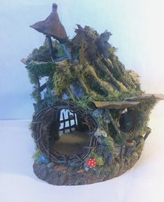 OOAK  woodland fairy house or gnome house / dollhouse on Etsy, $190.47 CAD