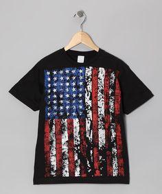 Look at this #zulilyfind! Black USA Flag Tee - Toddler & Boys by Garage Gang #zulilyfinds