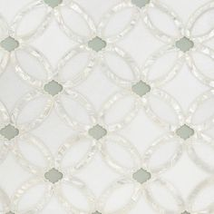 Artistic Tile Waterjet Collection - Allison - Stone & Glass waterjet mosaic tile. Thassos background. Rivershell lines. Wolfgang White Opera...