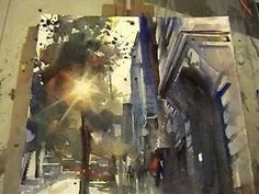 KEEPER (bringing the light out of a dark area - Wonderful)  /// Watercolor demo- Mika Törönen (short version)