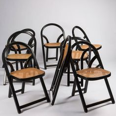 """Set of Eight """"Arca"""" Chairs by Gigi Sabadin for Crassevig 3 70s Furniture, Antique Chairs, Wishbone Chair, Modern Chairs, Antiques, Home Decor, Modern Adirondack Chairs, Antiquities, Antique"""