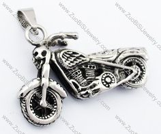 Stainless Steel Motorcycle Pendant-JP330063  Item No. : JP330063 Market Price : US$ 35.40 Sales Price : US$ 3.54 Category : Biker Pendants