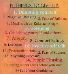 Things to give up. #wisdom #quote #loa