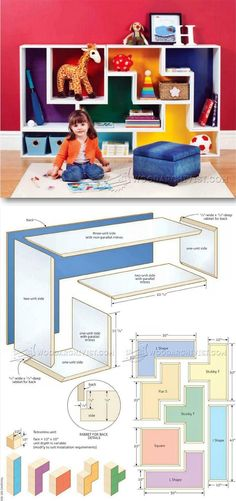 Build Modular Shelves - Children's Furniture Plans and Projects | WoodArchivist.com