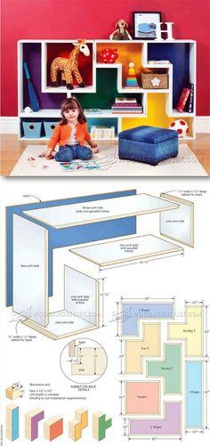 Build Modular Shelves - Children's Furniture Plans and Projects   WoodArchivist.com