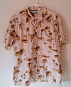 Columbia-Shirt-Hawaiian-Palm-Trees-Tree-Size-Large-Fishing