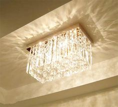 Contemporary Rectangular Crystal Chandelier