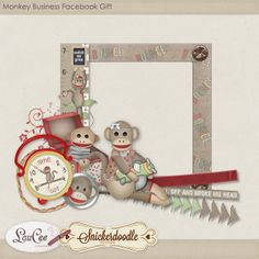 Monkey Business Cluster, which coordinate with the collaboration, Monkey Business,  of #SnickerdoodleDesigns and #LouCee Creations,