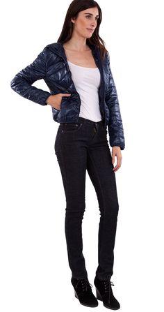 Nylon Down Jacket #downjacket #winterfashion #nyonjacket