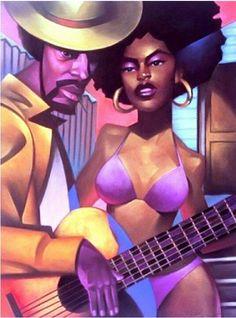 Sexy Black Art, Black Love Art, My Black Is Beautiful, Beautiful Things, Caricatures, African American Artwork, Natural Hair Art, Black Art Pictures, Black Cartoon