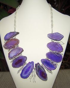 Spectacular Purple Agate Quartz Gemstones with by jfinedesign