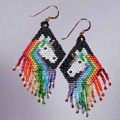 Rainbow unicorn fringe earrings   Flickr - Photo Sharing!