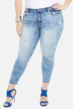 Plus Size Destiny Marble Wash Jeans Fashion To Figure, Destiny, Plus Size Outfits, Marble, Skinny Jeans, Womens Fashion, Pants, Clothes, Shopping