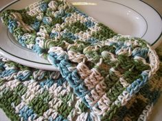 Cotton Crocheted Dishcloths in Shades of by roadstoeverywhere, $6.75