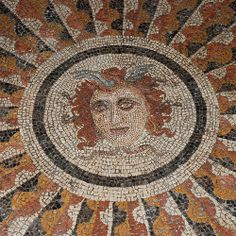 The famous mosaic of the Medusa in the Palace of the Grand Master of the Knights, Rhodes, Greece Ancient Greek Art, Ancient Rome, Ancient Greece, Rare Orchids, Medieval Town, Mosaic Designs, Ancient Artifacts, Greek Islands, Mosaic Art