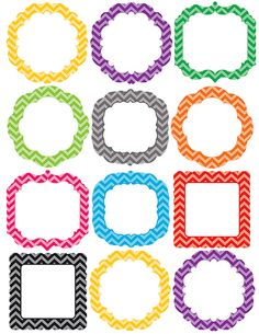 Chevron Frames Accents (TCR5413) « Products   Teacher Created Resources #teachercreatedresources #chevronclassroom