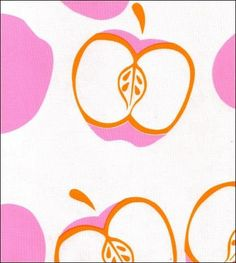 Round Oilcloth Tablecloths in Mod Apple