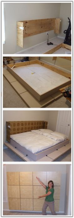 Build A Murphy Bed : go to loriwallbeds.com much easier to build and acts as storage/bookshelf when bed is not being used