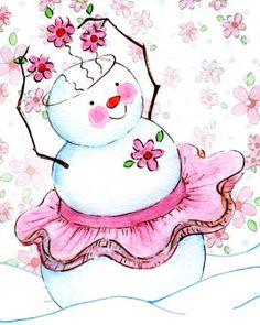 pink tutu snow girl                                                                                                                                                                                 More