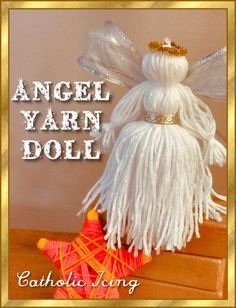 Yarn Crafts For Kids, Christmas Crafts For Kids, Diy Arts And Crafts, Xmas Crafts, Christmas Decorations To Make, Christmas Angels, Christmas Diy, Christmas Stuff, Birthday Decorations