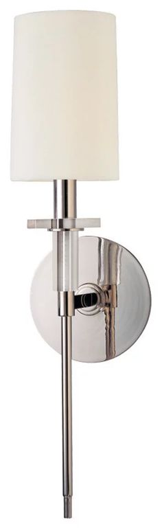 Hudson Valley Lighting Amherst Polished Nickel Wall Sconce w/ 1 Light - Modern - Wall Sconces - by Buildcom Contemporary Wall Sconces, Hudson Valley Lighting, Wall Sconce Lighting, Polished Nickel, Wall Lights, Home Decor, Wall Sconces, Homemade Home Decor, Appliques