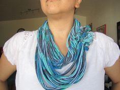 TScarf  Blue Infinity TShirt Scarf by iHeartit on Etsy, $14.99