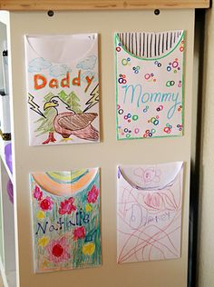 Cute idea- family mailboxes to write notes to each other.