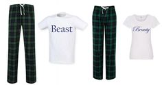 Couples Beauty & Beast Pyjamas Wedding Gift Green Tartan | Etsy Christmas Couple, Christmas Pajamas, Pyjamas, Pjs, Mrs Always Right, Anna White, Couple Pajamas, Wedding Honeymoons, Green Gifts