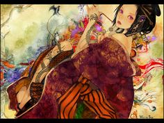 geisha Snyp Japanese clothes anime girls
