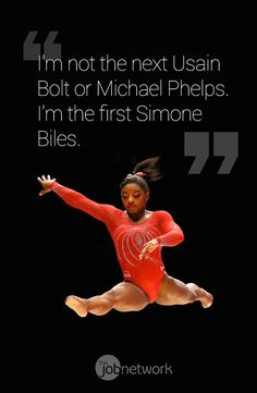 In One Quote, Simone Biles Perfectly Summed Up Her Remarkable Olympic Legacy. Be yourself, and become your own legacy. Start now at www.thejobnetwork.com