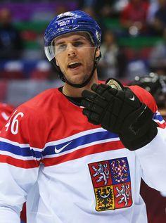 David Krejci playing for The Czech Republic in Sochi 2014