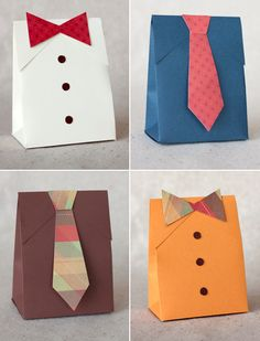 Great ideas for Father's Day presents..this could be tweaked to make packaging to match anyone's style