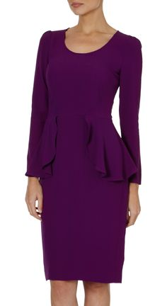 Fitted Peplum Dress | Beulah London | Cocosa