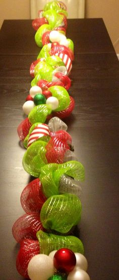Ideas For Diy Christmas Garland Stairs Deco Mesh Grinch Christmas Decorations, Whoville Christmas, Diy Christmas Garland, Christmas Holidays, Whimsical Christmas, Christmas Ornament, Deco Mesh Garland, Mesh Wreaths, Christmas Projects