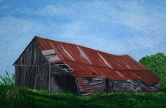 "Toujours debout par Johanne Kourie    Huile :24""x 16"" johannekourie@videotron.ca Barns, Cabin, House Styles, Home Decor, Country Barns, Homemade Home Decor, Cabins, Barn, Cottage"