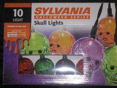 Sylvania Halloween Skull Lights New NIB 10 light