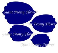 Giant Paper Peony Templates & Tutorial Paper di CatchingColorFlies