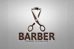 Barber Logo Templates - 100 Editable – 100 Re-sizable – 100 vectors- Vertical & horizontal layout- Variations : by Josuf Media Shop Logo, Barber Shop Decor, Barber Store, Mobile Barber, Texture Words, Barber Logo, Barbershop Design, Salon Signs, Haircut Designs
