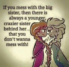 "108 Sister Quotes And Funny Sayings With Images ""Little sisters remind big sisters how wonderful it is to play in the sand. Big sisters show little sisters Sister Love Quotes, Sister Poems, Sister Qoutes, Sister Sayings, Sister Birthday Quotes, Birthday Wishes, Funny Quotes For Sisters, Sayings About Sisters, Frozen Sister Quotes"