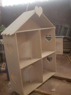 Casa de mu ecas barbie casitas fibrofacil lista para for Como aser una casa